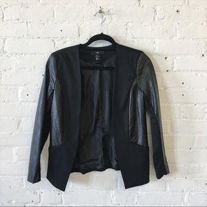 NWOT H&M Stretchy Faux Leather Jacket Blazer